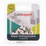 Разъём F штекер на кабель RG-6, обжимной, 5 шт, блистер, Cablexpert (SPL6-03)