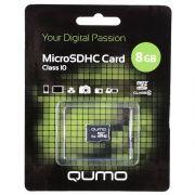 Карта памяти Micro SDHC 8Gb Qumo Class 10 без адаптера (QM8GMICSDHC10NA)