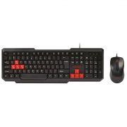 Игровой комплект SmartBuy ONE SBC-230346-KR, клавиатура+мышь, черно-красный, USB