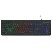 Клавиатура Gembird KB-240L USB, подсветка Rainbow, круглые клавиши