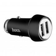 Зарядное автомобильное устройство Hoco Z7 2.4A 2xUSB, черное