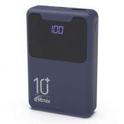 Зарядное устройство RITMIX RPB-10005 Indigo Black, 10000 мА/ч, 2.1A USB, дисплей