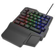 Клавиатура игровая Ritmix RKB-209 BL Gaming, многоцветная подсветка