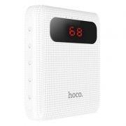 Зарядное устройство Hoco B20 Mige, 10000 мА/ч, 2.1A 2xUSB, дисплей, белое