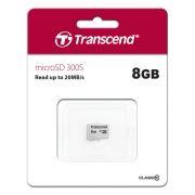 Карта памяти Micro SDHC 8Gb Transcend 300S Class 10 без адаптера (TS8GUSD300S)