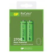 Аккумулятор AA GP ReCyko+ HR6-2BL 2700мА/ч Ni-Mh, 2шт, блистер
