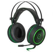 Гарнитура DEFENDER G-530D DeadFire, игровая, подсветка, черный/зеленый (64531)