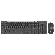 Комплект DEFENDER York C-777 RU, проводные клавиатура и мышь, черный (45777)
