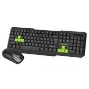 Комплект SmartBuy ONE SBC-230346AG-KN Black/Green, беспроводные клавиатура и мышь