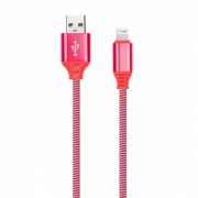 Кабель USB 2.0 Am=>Apple 8 pin Lightning, 1 м, нейлон, красный, Smartbuy (iK-512NSbox red)