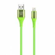 Кабель USB 2.0 Am=>Apple 8 pin Lightning, 1 м, салатовый, коробка, Smartbuy (iK-512ERGbox salad)