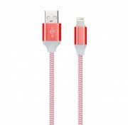 Кабель USB 2.0 Am=>Apple 8 pin Lightning, 1 м, с индикацией, красный, Smartbuy (iK-512ssbox red)