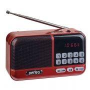 Мини аудио система Perfeo ASPEN i20, MP3, FM, красный (PF_B4058)