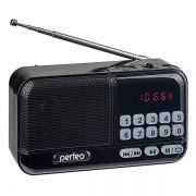 Мини аудио система Perfeo ASPEN i20, MP3, FM, черный (PF_B4059)