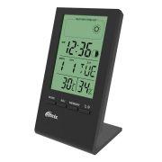 Метеостанция Ritmix CAT-040 с часами и будильником, черная