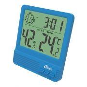 Метеостанция Ritmix CAT-052 с часами и будильником, синяя