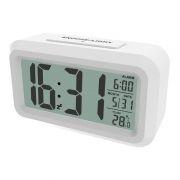 Часы будильник Ritmix CAT-100 , температура, белые