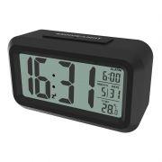 Часы будильник Ritmix CAT-100 , температура, черные
