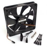 Вентилятор 140 x 140 x 25, 3 pin/4 pin Molex, 12V, гидродин., кабель 40 см, Gembird (S14025H-3P4M)