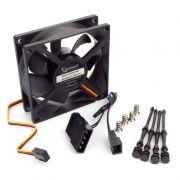 Вентилятор 80 x 80 x 25, 3 pin/4 pin Molex, 12V, гидрод., тихий, кабель 30 см, Gembird (S8025H-3P4M)