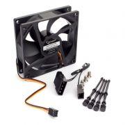 Вентилятор 92 x 92 x 25, 3 pin/4 pin Molex, 12V, гидрод., тихий, кабель 30 см, Gembird (S9225H-3P4M)