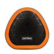Колонка 1.0 Perfeo TRIANGLE, 6 Вт, Bluetooth, MP3, FM, 800 мАч, черная/оранжевая (PF_A4342)