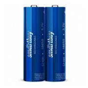 Аккумулятор 18650 Smartbuy 2000мА/ч, 2 шт, термопленка (SBBR-18650-2S2000)