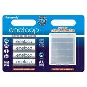 Аккумулятор AA Panasonic Eneloop 1900мА/ч Ni-Mh, 4шт, пластиковый футляр (BK-3MCCEC4BE)