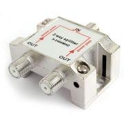 Антенный разветвитель на 2 ТВ, с проходом питания, 5 - 2400 МГц, блистер, Cablexpert (AS-TV-PP-02)