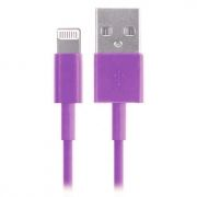 Кабель USB 2.0 Am=>Apple 8 pin Lightning, 1.2 м, фиолетовый, SmartBuy (iK-512c violet)