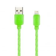 Кабель USB 2.0 Am=>Apple 8 pin Lightning, 1 м, зеленый, SmartBuy (ik-512SPS green)