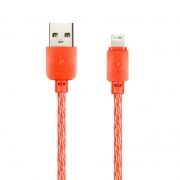 Кабель USB 2.0 Am=>Apple 8 pin Lightning, 1 м, красный, SmartBuy (ik-512SPS red)