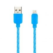 Кабель USB 2.0 Am=>Apple 8 pin Lightning, 1 м, синий, SmartBuy (ik-512SPS blue)