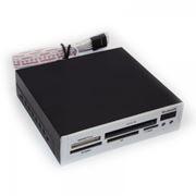 Карт-ридер внутренний 3.5 Gembird Silver USB2.0 + Bluetooth (FDI2-ALLIN1-S-BT)