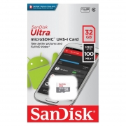 Карта памяти Micro SDHC 32Gb Sandisk Ultra Class 10 UHS-I, 100 Мб/с (SDSQUNR-032G-GN3MN)