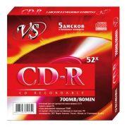 Диск CD-R VS 700Mb 52x в бумажном конверте, 5шт (VSCDRK501)