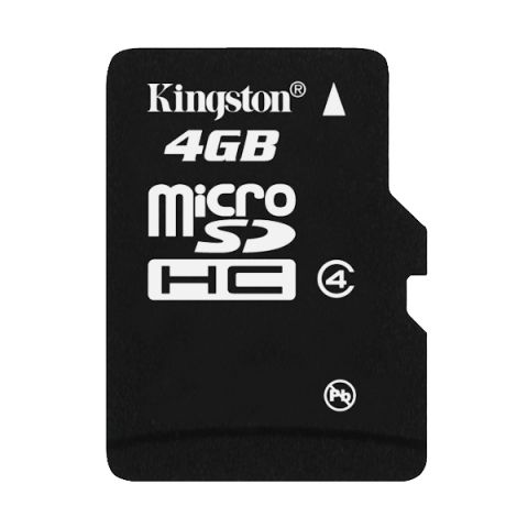 Карта памяти Micro SDHC 4Gb Kingston Class 4 без адаптеров (SDC4/4GBSP)