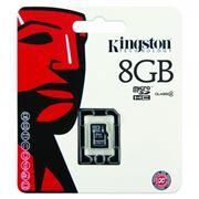 Карта памяти Micro SDHC 8Gb Kingston Class 4 без адаптеров (SDC4/8GBSP)