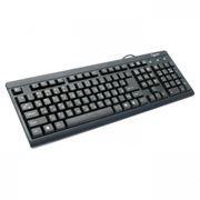 Клавиатура GEMBIRD KB-8300-BL-R, черная, PS/2