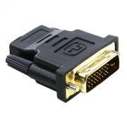 Адаптер DVI-D/M - HDMI/F, позолоченные контакты, 5bites (DH1803G)