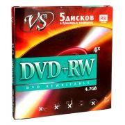 Диск DVD+RW VS 4,7 Gb 4x в конверте, 5 шт (VSDVDPRWK501)