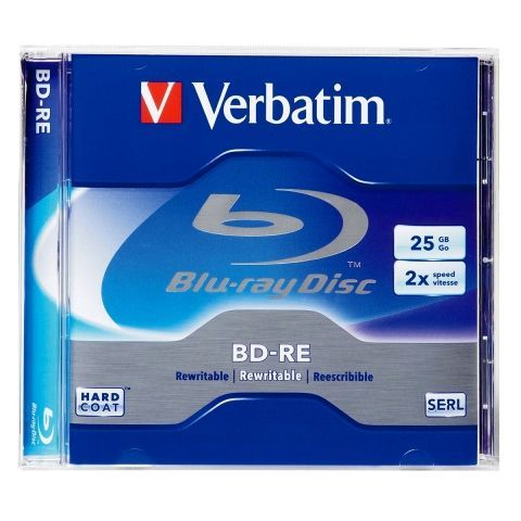 Диск BD-RE Verbatim 25 Gb 2x, Jewel Box (43614/43615)...