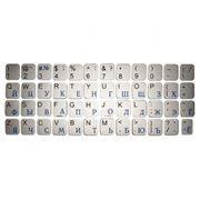 Наклейки на клавиатуру РУС/ЛАТ СЕРЕБРИСТЫЕ Plasma 112 символов