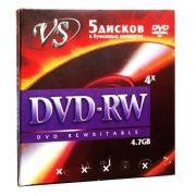 Диск DVD-RW VS 4,7 Gb 4x в конверте, 5 шт (VSDVDRWK501)