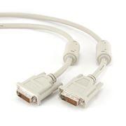 Кабель DVI-D Dual link (24+1) 10 м, серый, Gembird (CC-DVI2-10M)