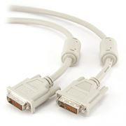 Кабель DVI-D Dual link (24+1) 4.5 м, серый, Gembird (CC-DVI2-15)