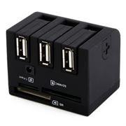 HUB 3-port QbiQ CR015 c картридером