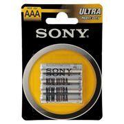 Батарейка AAA SONY NEW Ultra R03-4BL, солевая, 4 шт, блистер