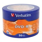 Диск DVD-R Verbatim  4,7 Gb 16x DataLife, Wagon Wheel, 50шт (43731)