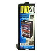 Подставка для дисков 20 DVD DVD20 Кластер, черная, для DVD слим- боксов